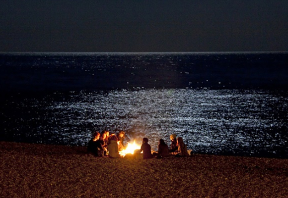 Noche en las playas de Chile