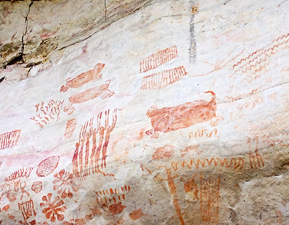 Pinturas rupestres en Guaviare