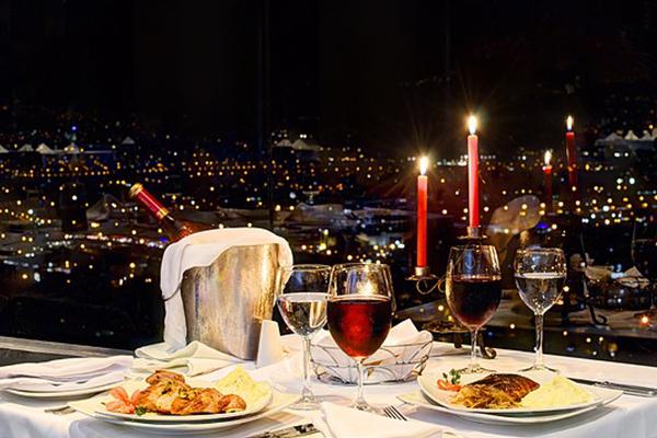 Cena romántica en Medellín