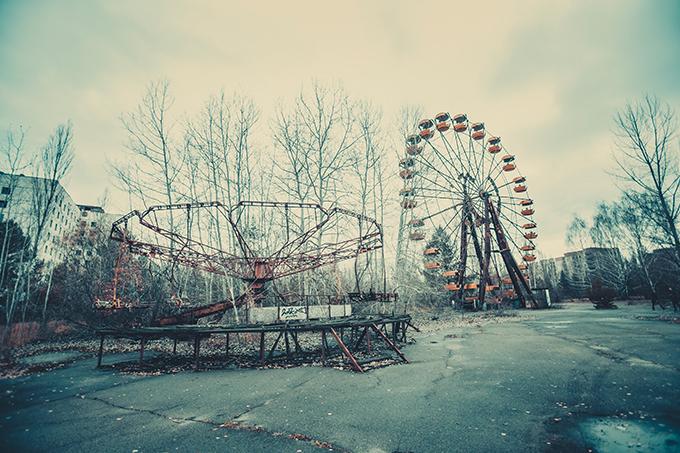Ciudad abandonada en Ucrania